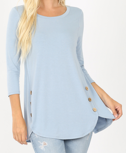 3/4 Sleeve Dolphin Tail Top